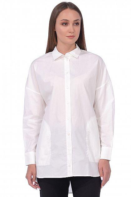 fa0c7ac7d53 Удлинённая блузка с карманами B178516 -     index+1