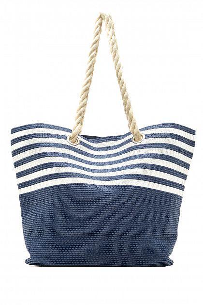 0f5d63262441 Пляжная сумка в полоску, купить за 1599 руб, цвет INDIGO, артикул ...