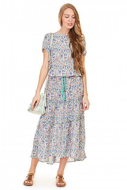285ac2b61870c3e Платье в крестьянском стиле, купить за 2599 руб, цвет ...