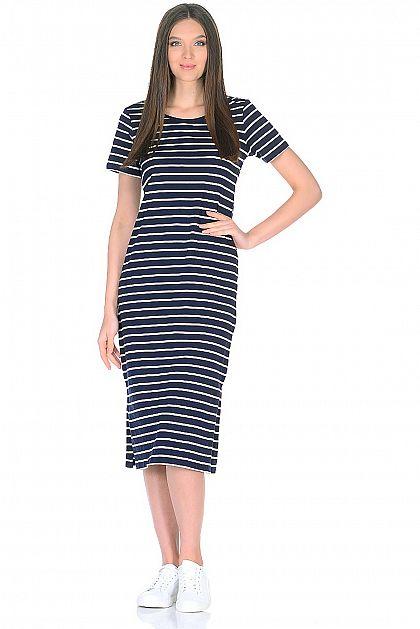 6ba95d91e27 Платье-миди в морскую полоску B458026 -     index+1