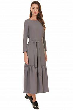 Baon, Платье-миди с оборкой B457501, ZIRCONMELANGE