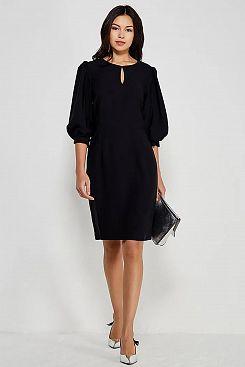 Baon, Платье с вырезом-каплей B457505, BLACK