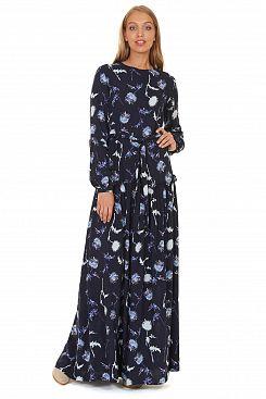 Baon, Платье с узором из одуванчиков B457509, DARKNAVYPRINTED
