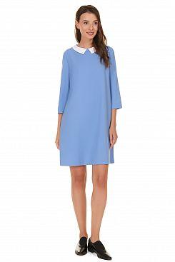 Baon, Платье с белым воротничком B457511, AIRBLUE