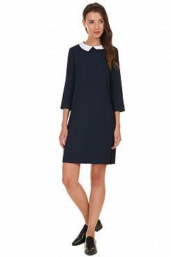 Baon, Платье с белым воротничком B457511, DARKNAVY