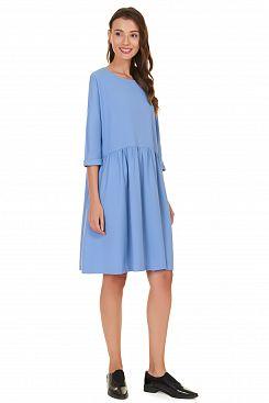Baon, Широкое платье со складками B457512, AIRBLUE