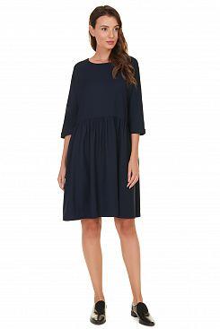 Baon, Широкое платье со складками B457512, DARKNAVY