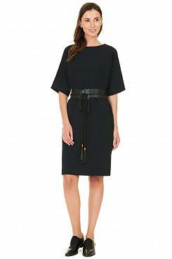 Baon, Платье с поясом-оби B457527, BLACK