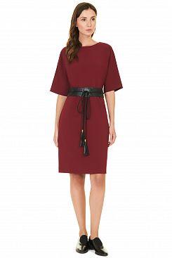 Baon, Платье с поясом-оби B457527, POMEGRANATE