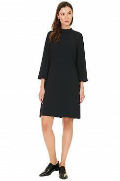 Baon, Платье с воротником-стойкой B457528, BLACK