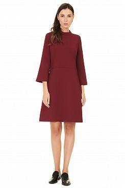 Baon, Платье с воротником-стойкой B457528, POMEGRANATE