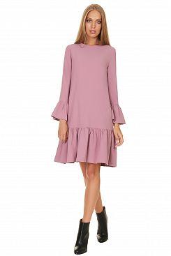 Baon, Платье с воланами на рукавах B457547, OLDROSE