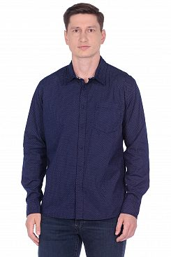 Baon, Рубашка в мелкий горошек B669541, DEEPNAVYPRINTED