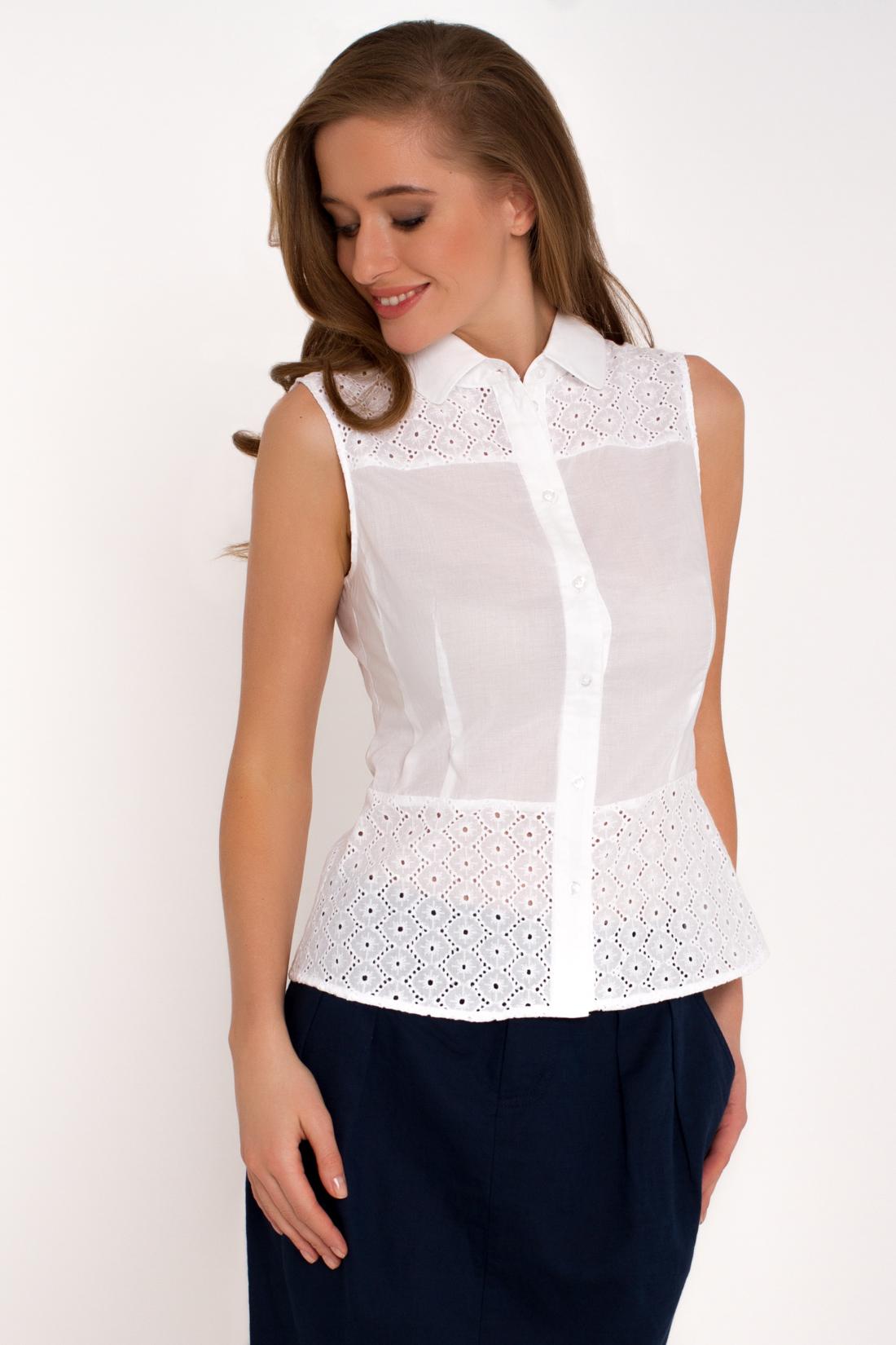 Как сшить белую блузку без рукавов
